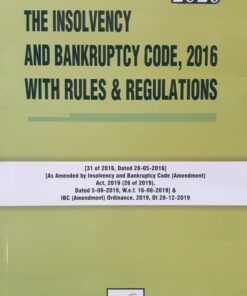 Book Corporation's The Insolvency and Bankruptcy Code, 2016 with Rules & Regulations 1st Edition January 2020
