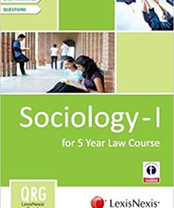 Lexisnexis Quick Reference Guide: Sociology - I (For 5 Year Law Course)