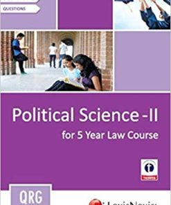 Quick Reference Guides: Political Science - II (For 5 Year Law Course)