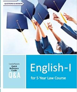 Lexis Nexis Q&A English-I for 5 year Law Course