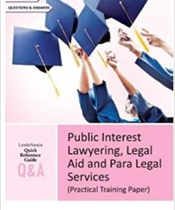 Lexis Nexis Q&A Public Interest Lawyering, Legal Aid and Para Legal Services