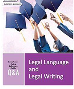 Lexis Nexis Q&A Legal Language and Legal Writing