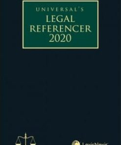 Lexis Nexis Legal Referencer 2020 (Standard Edition) by Universal 1st Edition August 2019