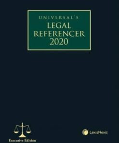 Lexis Nexis Legal Referencer 2020 (Executive Edition) by Universal 1st Edition August 2019