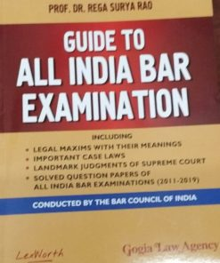 A Guide To All India Bar Examinations (AIBE) by Dr. Rega Surya Rao 4th Edition 2020