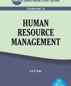 Taxmann's Human Resource Management by V.S.P Rao for CBCS (Choice Based Credit System)