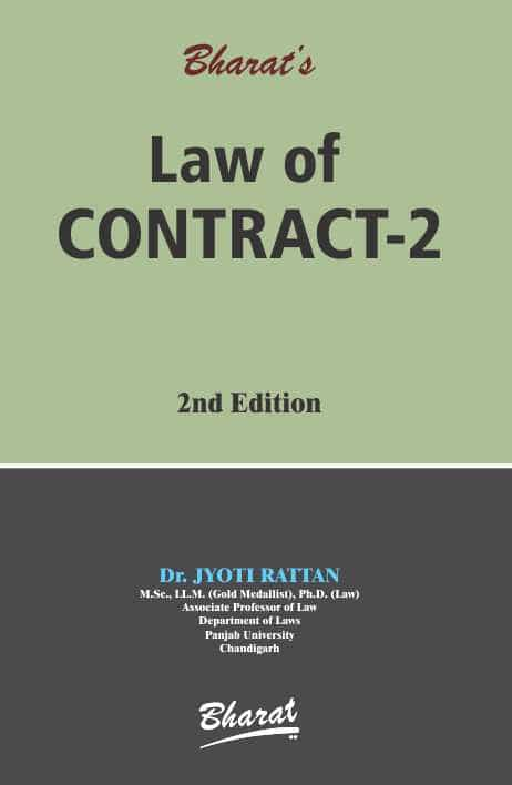Bharat's Law of Contract-2 by Dr. Jyoti Rattan 2nd Edition 2019