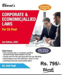 Bharat's Corporate & Economic/Allied Laws by CA. Amit Popli for May 2020 Exam