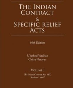 Lexis Nexis The Indian Contract and Specific Relief Acts by Pollock & Mulla 16th Edition August 2019