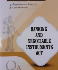 GLA's Question & Answers on Banking And Negotiable Instruments Act by Dr. Rega Surya Rao 1st Edition 2019