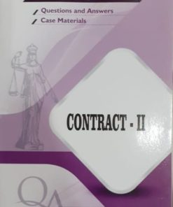 GLA's Question & Answers on Contract-II by Dr. Rega Surya Rao 1st Edition 2019
