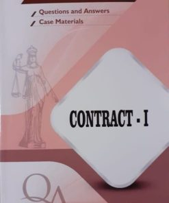 GLA's Question & Answers on Contract-I by Dr. Rega Surya Rao 1st Edition 2019