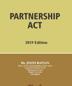 Bharat's Partnership Act by Dr. Jyoti Rattan 1st Edition 2019