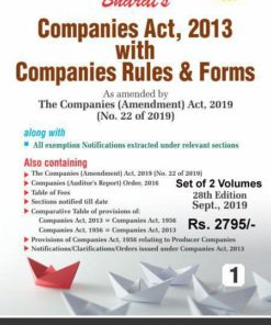 Bharat's Companies Act, 2013 with Companies Rules & Forms (Set of 2 Volume) - 28th Edition September 2019
