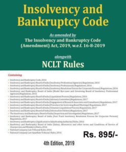 Bharat's Insolvency and Bankruptcy Code alongwith NCLT Rules - 4th Edition September 2019