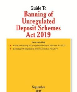 Taxmann's Guide To Banning of Unregulated Deposit Schemes Act 2019 - Edition September 2019