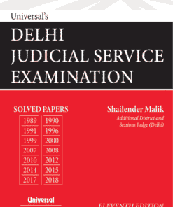 Universal's Delhi Judicial Service Examination - Solved Papers 11th Edition 2020