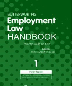 Lexis Nexis's Employment Law Handbook (Set of 2 Vols.) by Butterworths 26th Edition 2019