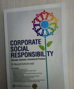 Wolters Kluwer Corporate Social Responsibility By Dr Navjeet Sidhu Kundal, 1st Edition November 2019