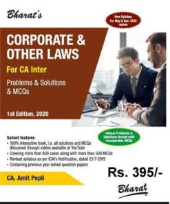 Bharat's Corporate & Other Laws by CA. Amit Popli for May 2020 Exam