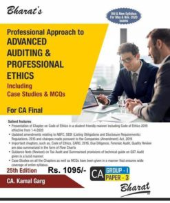 Bharat's Professional Approach to Advanced Auditing & Professional Ethics by CA. Kamal Garg for May 2020 Exam