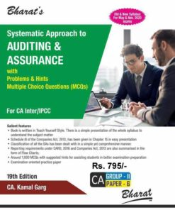 Bharat's Systematic Approach to Auditing & Assurance by CA. Kamal Garg for May 2020 Exam
