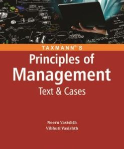 Taxmann's Principles of Management Text and Cases by Neeru Vasishth 5th Edition May 2019