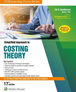 Wolters Kluwer's Simplified Approach to Costing Theory by K. Hariharan for May 2020 Exam