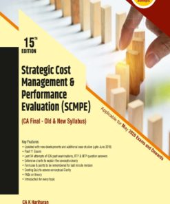 Wolters Kluwer's Strategic Cost Management & Performance Evaluation (SCMPE) by K. Hariharan for May 2020 Exam