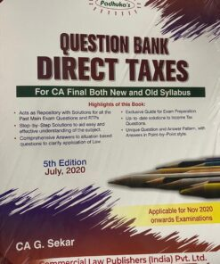 Commercial's Question Bank on Direct Taxes, including Multiple Choice Questions by G Sekar for Nov 2020 Exam