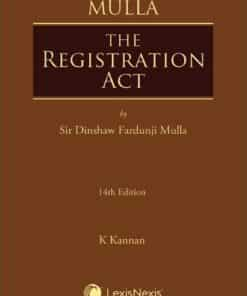 Lexis Nexis's The Registration Act by Mulla - 14th Edition January 2020
