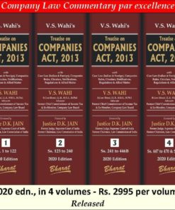 Bharat's Treatise on Companies Act, 2013 by V.S. Wahi - 1st Edition January 2020
