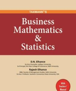 Taxmann's Business Mathematics & Statistics by D.N Elhance - 1st Edition January 2020