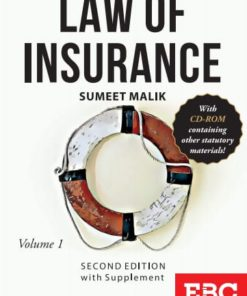 EBC's J V N Jaiswal Law of Insurance (in 2 Volumes) by Sumeet Malik 2nd Edition, 2016 With Supplement 2020