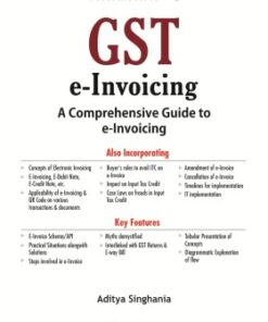 Taxmann's GST e-Invoicing by Aditya Singhania - 2nd Edition September 2020