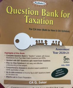 Commercial's Question Bank for Taxation including Multiple Choice Questions by G Sekar for Nov 2020 Exam