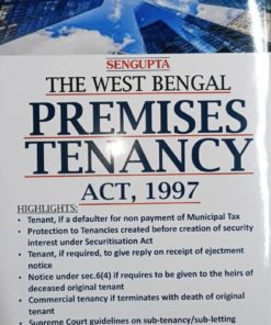 Kamal law House's The West Bengal Premises Tenancy Act, 1997 (Abridged) by S.P. Sengupta - 1st Edition January 2020