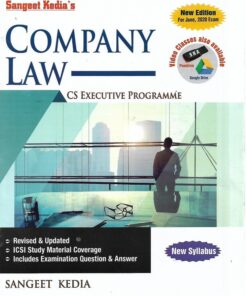 Sangeet Kedia's Company Law (New Course) for June 2020 Exams