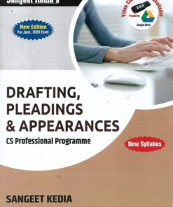 Sangeet Kedia's Drafting, Pleadings & Appearances (New Course) for June 2020 Exams