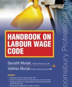 Bloomsbury's Handbook on Labour Wage Code by Saurabh Munjal - 1st Edition June 2021