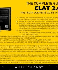 Whitesmann's The Complete Guide to CLAT 2.0 by Vishrut Jain - 1st Edition 2020