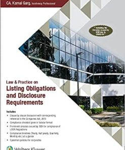 Wolters Kluwer's Law & Practice on Listing Obligations and Disclosure Requirements by Kamal Garg - 1st Edition 2020
