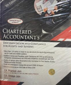 Wolters Kluwer's Chartered Accountant's Documentation and Compliance for Audits and Reviews By Pramod Jain - 9th Edition June 2020