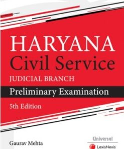 Universal's Haryana Civil Service (Judicial Branch) Preliminary Examination by Gaurav Mehta - 5th Edition July 2020