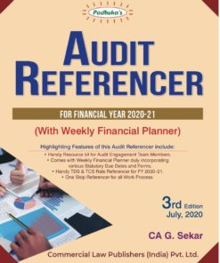Commercial's Audit Referencer Financial Year 2020-21 With Weekly Financial Planner By G. Sekar, 3rd Edition July 2020