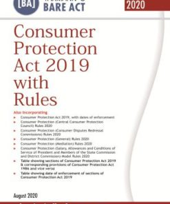 Taxmann's Consumer Protection Act 2019 with Rules (Bare Act) - Edition August 2020