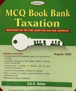 Commercial's MCQ Book Bank Taxation by G. Sekar for Nov 2020 Exam