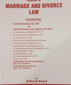 TNL's The West Bengal Manual of Marriage and Divorce law
