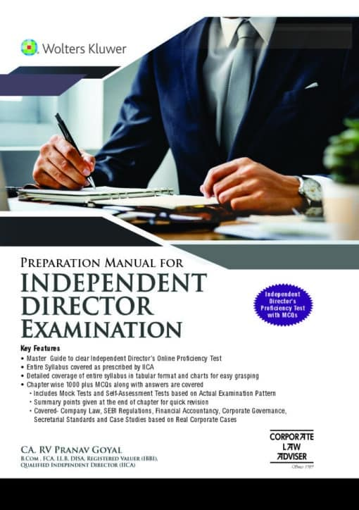 Wolters Kluwer's Preparation Manual for Independent Director Examination by Pranav Goyal - 1st Edition September 2020