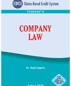 Taxmann's Company Law by Rajni Jagota under CBCS - 1st Edition September 2020